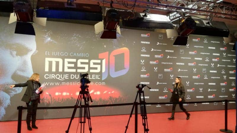 PRESENTACIÓ DE L'ESPECTACLE MESSI10, DEL CIRQUE DU SOLEIL